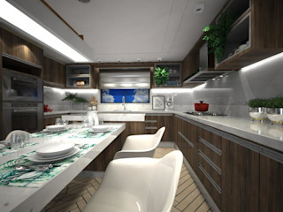 Stephanie Guidotti Arquitetura e Interiores Modern Kitchen White