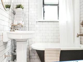Antalya Fayans Ustası - 0 546 737 07 38 現代浴室設計點子、靈感&圖片 陶器 White