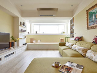 耀昀創意設計有限公司/Alfonso Ideas Country style living room