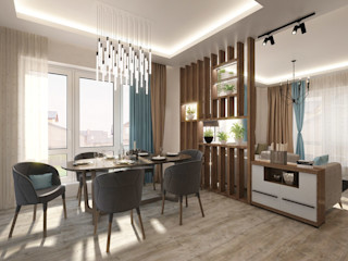 ДизайнМастер Eclectic style dining room Beige