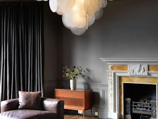 Nimbus pendant CTO Lighting Ltd Living roomLighting Glass Amber/Gold
