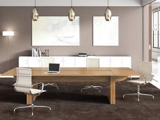LINEA - R+ FERCIA - Furniture Solutions Espaces de bureaux modernes Bois d'ingénierie Effet bois