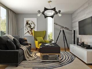 Hampstead, London Hampstead Design Hub Modern living room Grey