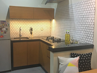 RANAH Industrial style kitchen Wood effect