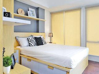 RANAH Scandinavian style bedroom Wood effect