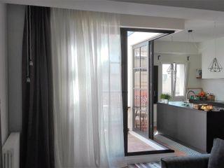 Sistemas de rieles curvos para cortinas y visillos Navarro valera cortinas y hogar HogarTextiles Fibra natural Blanco