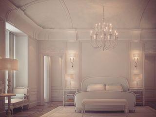Patrician Classique Bedroom Design IONS DESIGN Minimalist bedroom Wood White