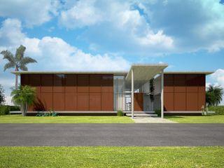 Upper Design by Fernandez Architecture Firm Tropische Häuser Holz Holznachbildung
