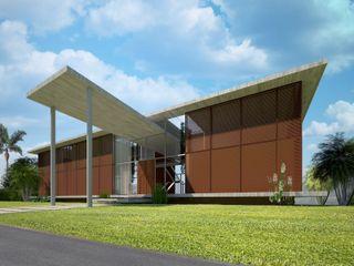 Upper Design by Fernandez Architecture Firm Tropische Häuser Holz Transparent