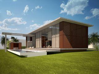 Upper Design by Fernandez Architecture Firm Tropische Häuser Beton Transparent