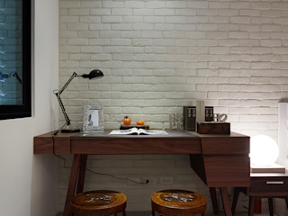 弘悅國際室內裝修有限公司 Спальня в азиатском стиле Твердая древесина Эффект древесины
