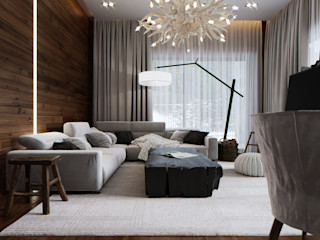 MD WORK SRL 客廳沙發與扶手椅 棉 Grey