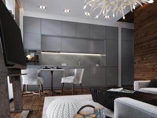 MD WORK SRL 廚房桌椅 複合木地板 Grey