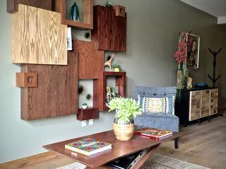 Erika Winters Design 現代風玄關、走廊與階梯