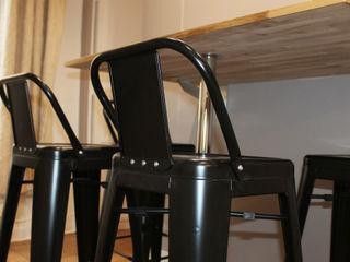 Agence ADI-HOME Ruang Makan Modern Besi/Baja Black
