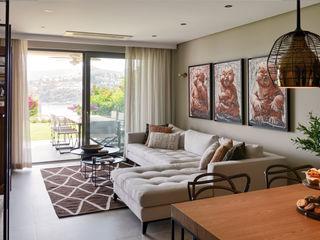 Esra Kazmirci Mimarlik Modern living room Grey