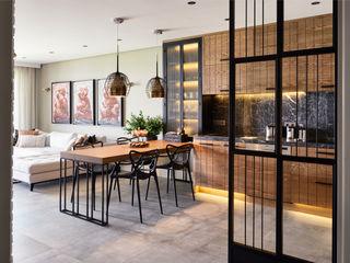 Esra Kazmirci Mimarlik Modern kitchen Grey