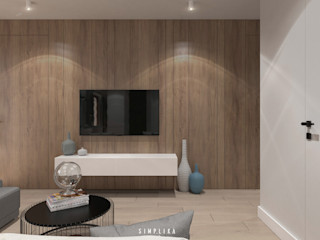 SIMPLIKA Salones de estilo moderno Madera