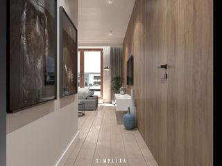 SIMPLIKA Pasillos, vestíbulos y escaleras de estilo moderno