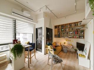 開放式的LDK空間 一葉藍朵設計家飾所 A Lentil Design Living room