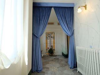 architetto Davide Fornero Locaux commerciaux & Magasins Textile Bleu
