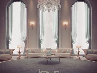 Majlis Interior Design de haute élégance IONS DESIGN Living room Copper/Bronze/Brass Green