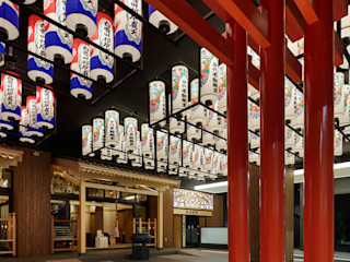 藤村デザインスタジオ / FUJIMURA DESIGIN STUDIO Edificios de Oficinas Madera Rojo
