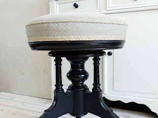 Maisondora Vintage Living WoonkamerKrukken, stoelen & zitkussens Hout Zwart