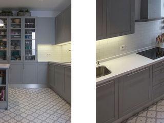 Muebles de Cocina Aries КухняШафи і полиці Сірий