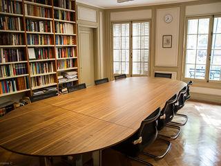 Habilitación de Centro de Estudios Stanford por RENOarq RENOarq Oficinas y Comercios Madera Marrón