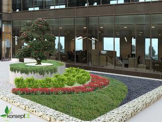 AKSA AKRİLİK KİMYA SANAYİ A.Ş. İÇ AVLU PROJESİ konseptDE Peyzaj Fidancılık Tic. Ltd. Şti. Ofis Alanları