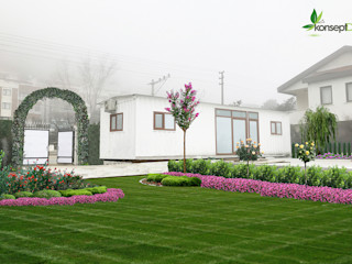 A.A. KONUTU PEYZAJ PROJESİ konseptDE Peyzaj Fidancılık Tic. Ltd. Şti. Akdeniz Bahçe