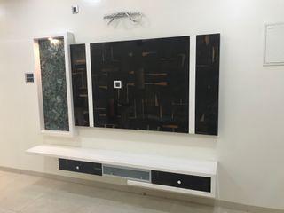 Nabh Design & Associates Salas de estar minimalistas contraplacado