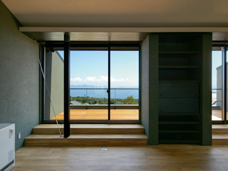 一級建築士事務所アールタイプ Modern terrace Glass Transparent