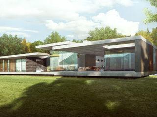 Riverside New Build in Oxfordshire HollandGreen 모던스타일 주택