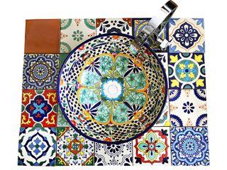 Mexambiente e.K. Eclectic style bathroom Ceramic Multicolored