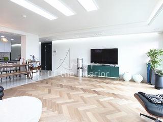 디자인 아버 Modern Living Room Wood effect