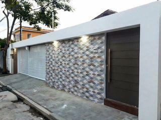 TE ARQUITETURA 現代房屋設計點子、靈感 & 圖片 陶器 Blue