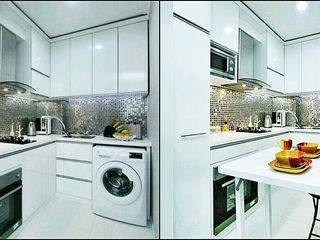 De' Catoer design & build KitchenCabinets & shelves Ván ép White