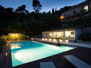 PGL   pool with a greenhouse PLUS ULTRA studio Piscina in stile mediterraneo