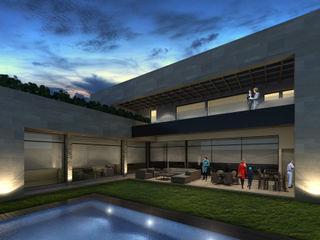 Rousseau Arquitectos Piscina moderna Grigio