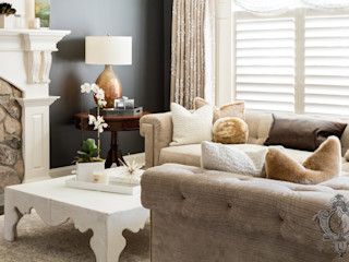 Dash of Gold Kellie Burke Interiors Modern Living Room
