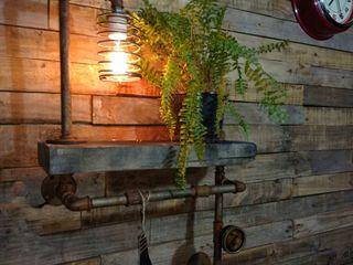 Estante Estilo Industrial Con Foco Vintage Vieja Eddie Lamparas Vintage Vieja Eddie LivingsIluminación Hierro/Acero Marrón