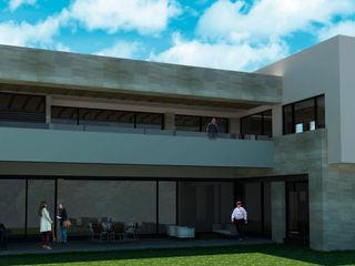 SAN PATRICIO VI Rousseau Arquitectos Casas modernas Gris