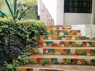 Paisaje Radical Rustic style garden Concrete Multicolored