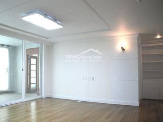용인 동백동 동원로얄듀크 44평 아파트 얀코인테리어 스칸디나비아 거실 화이트