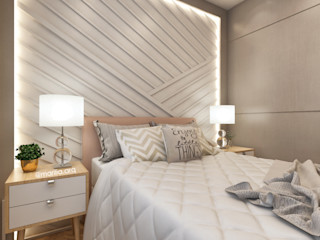Marilia Zimmermann Arquitetura e Interiores Modern style bedroom