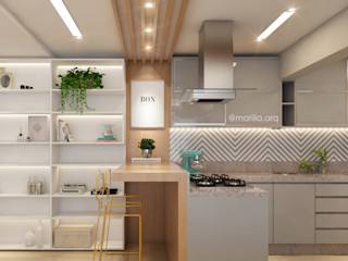 Marilia Zimmermann Arquitetura e Interiores Modern dining room