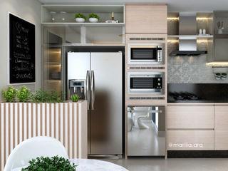 Marilia Zimmermann Arquitetura e Interiores Modern kitchen