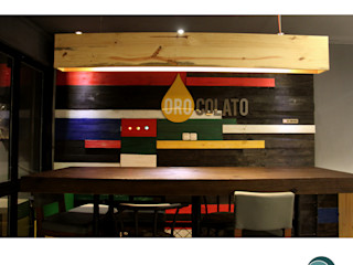 Oro Colato - Gelato and Bar IDEO DESIGNWORK Dinding & Lantai Gaya Industrial
